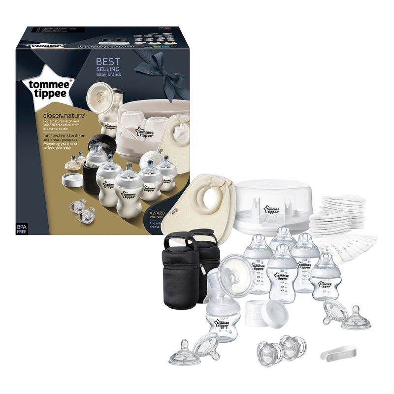 Pack Esterilizador para Microondas y Sacaleches Tommee Tippee Closer to Nature
