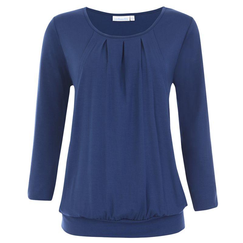 Camiseta de Embarazo y Lactancia azul