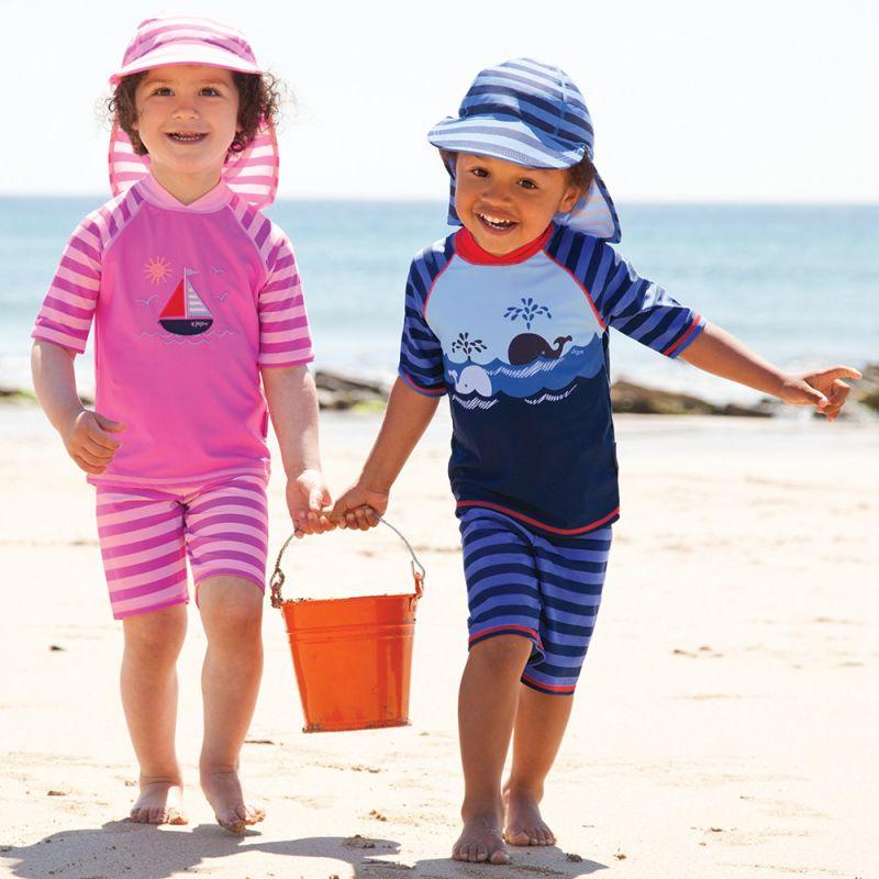 Traje protección solar Bebé y Niño.Ballenas