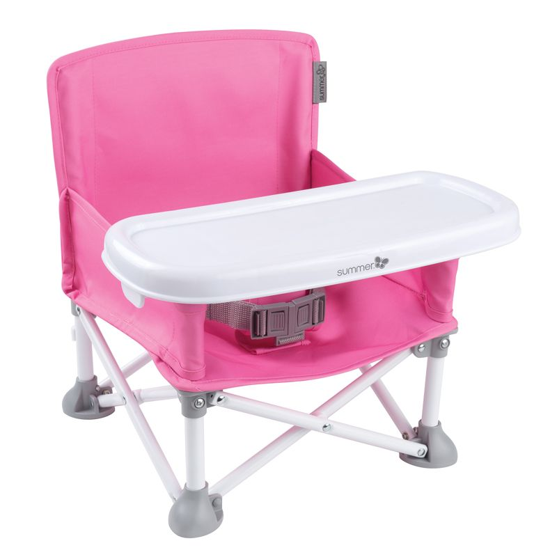 Trona Plegable Pop N Sit - Summer Infant de color rosa