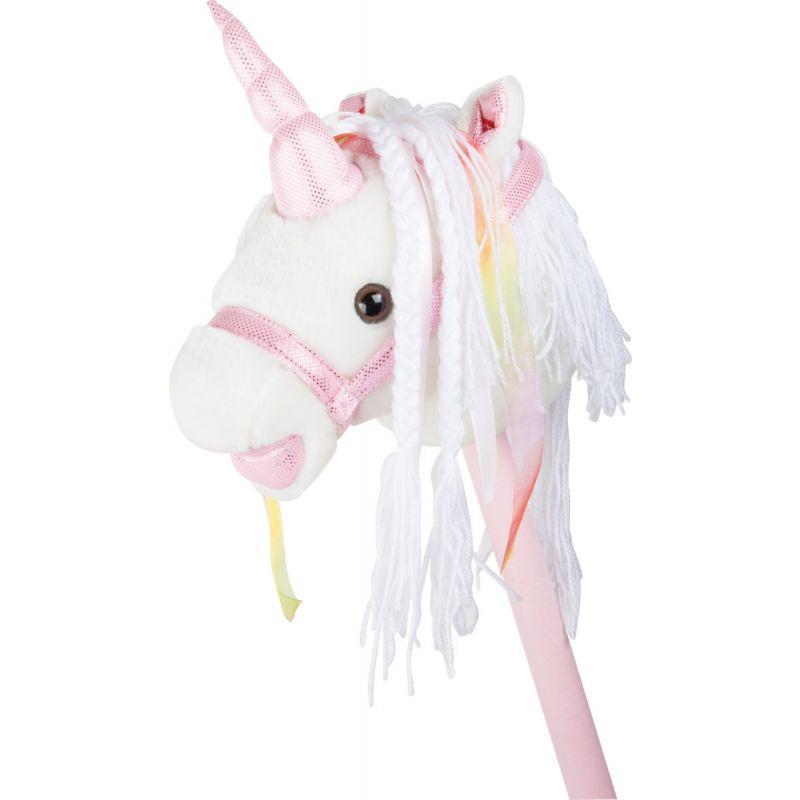 Unicornio blanco de palo