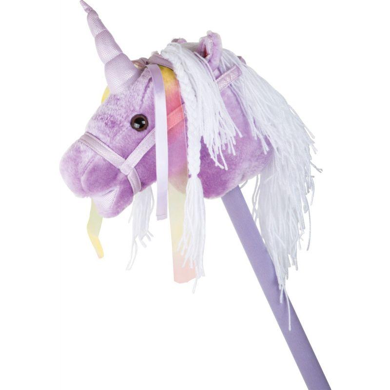 Unicornio de palo Lila con Sonido