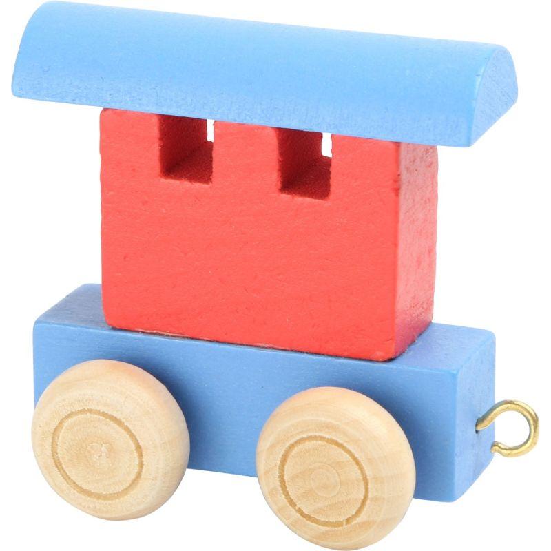 vagón rojo y azul tren de colores de números