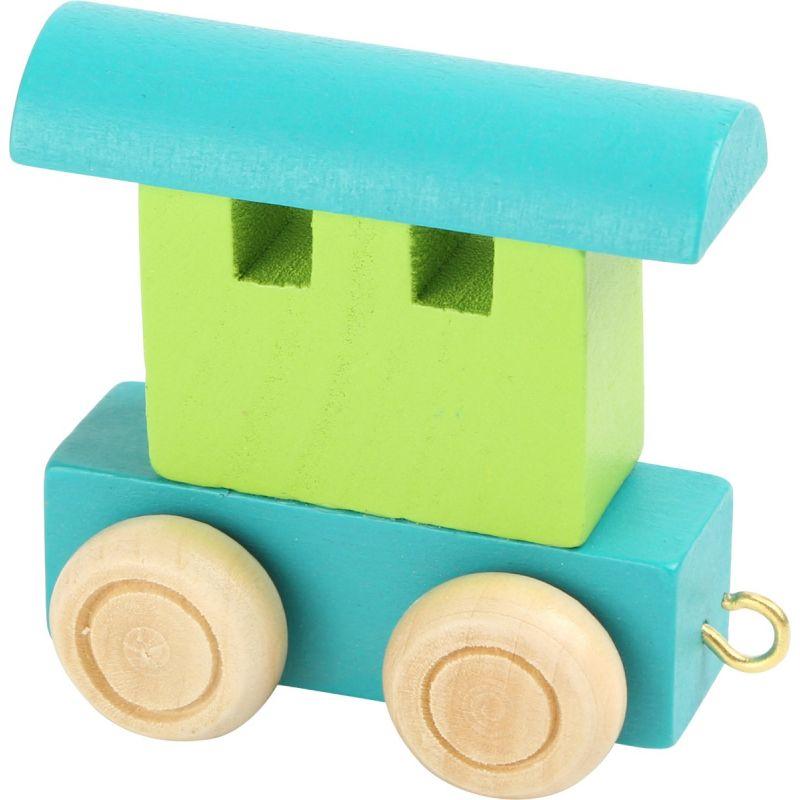 vagón verde y turquesa tren de colores de números