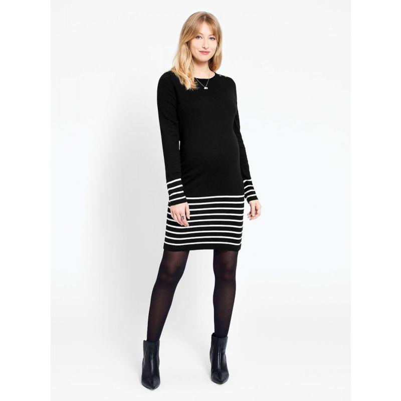 vestido negro premama de punto