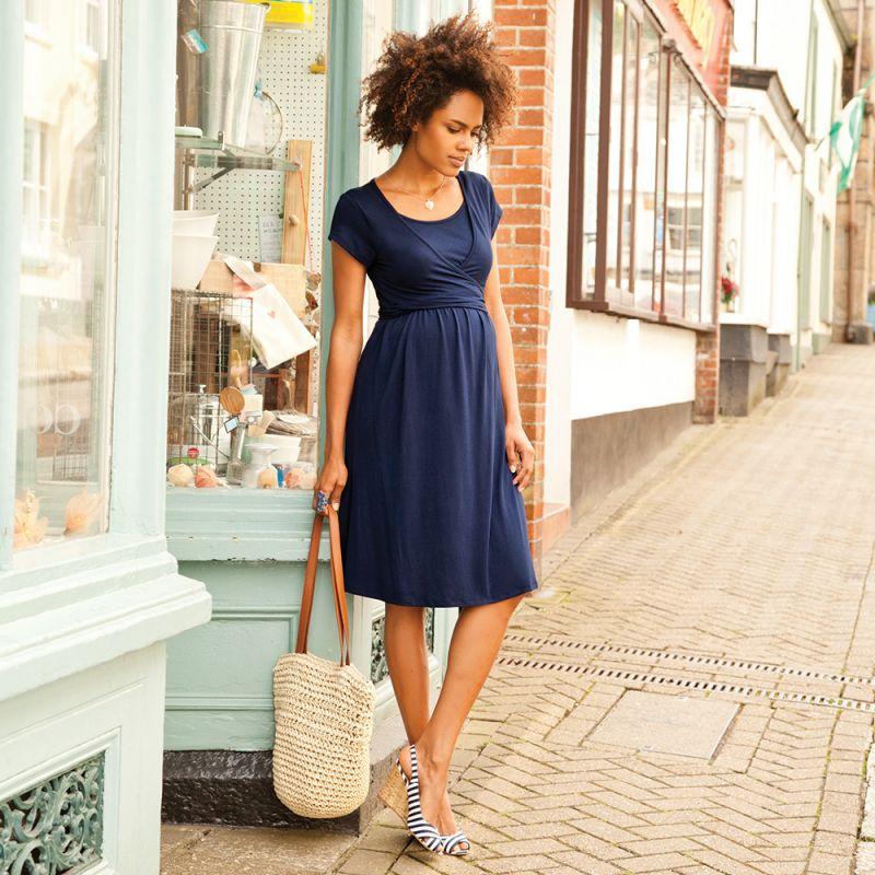 Vestido Premamá y Lactancia Liah en color Azul
