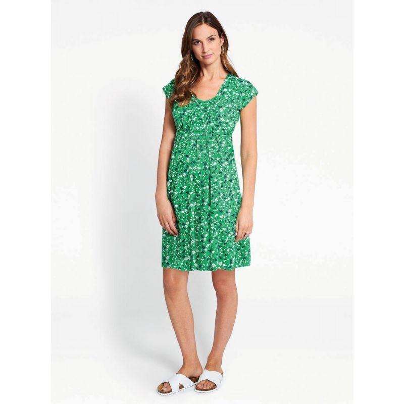 Vestido Premamá y Lactancia Verde Floral