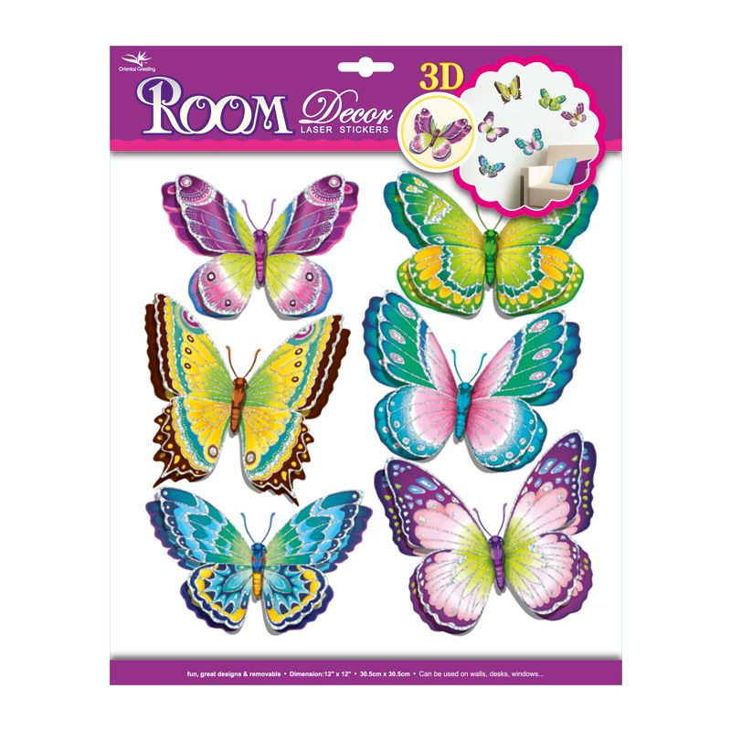 Vinilo Decorativo Mariposas 3D