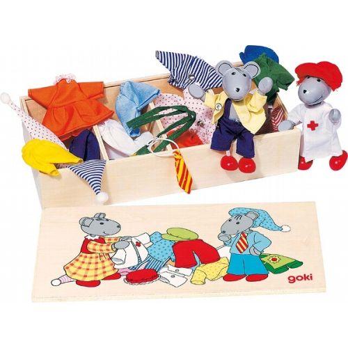 Caja de ropa de los ratones Lia y Luca, de Goki