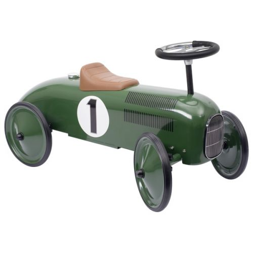 Correpasillos coche retro verde, de Goki