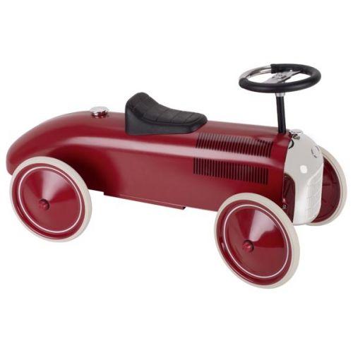 Correpasillos coche rojo-granate retro, de Goki