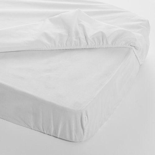 Sábana Bajera para Cuna de 60 x 120 cm - Color Blanco