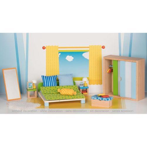 Set de 23 elementos para dormitorio moderno para casa de muñecas, de Goki