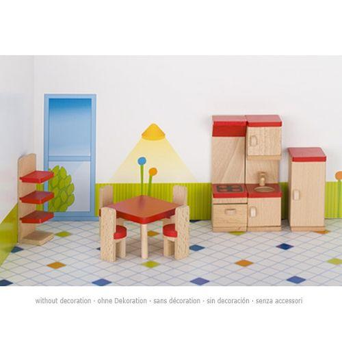 Set de 9 muebles de cocina para casa de muñecas, de Goki