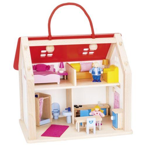 Maleta casa de muñecas con 24 accesorios, de Goki