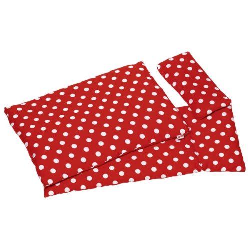 Ropa de cama de muñecas roja con lunares, de Goki