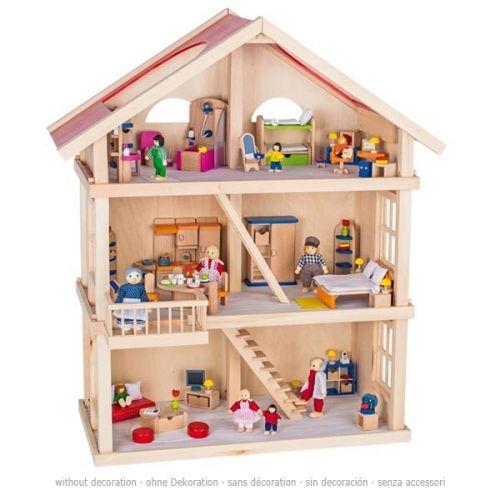 Casa de muñecas de 3 pisos, de Goki