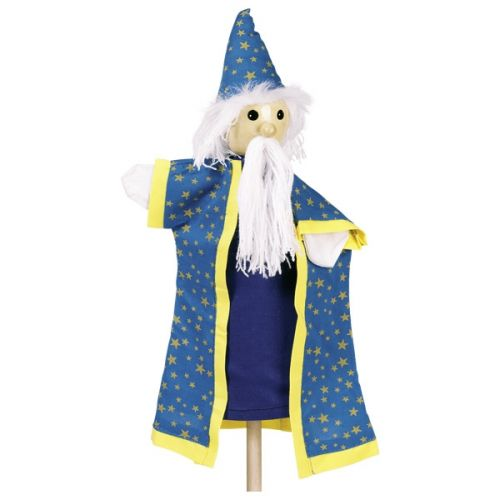 Marioneta de mano de mago o brujo, de Goki