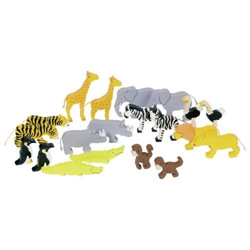 Animales de África de madera, de Goki