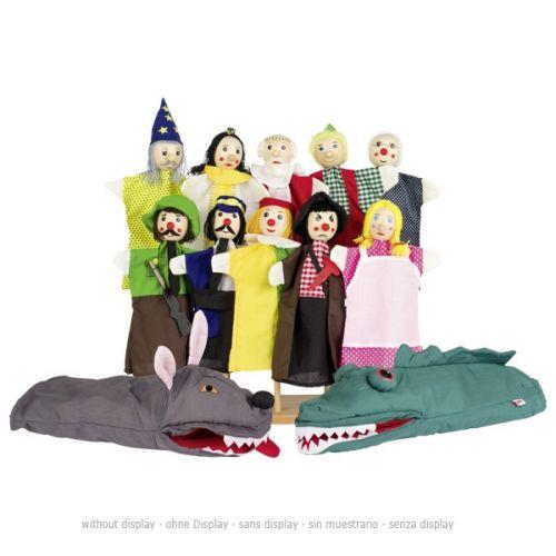 Set de 12 marionetas de personajes, de Goki