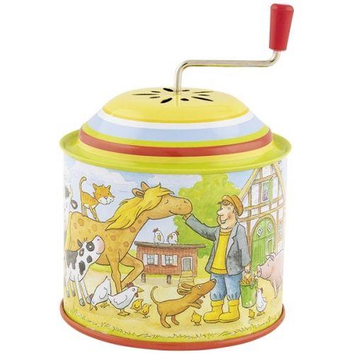 """Caja de música de granja con melodía: """"En la granja de Pepito"""", de Goki"""