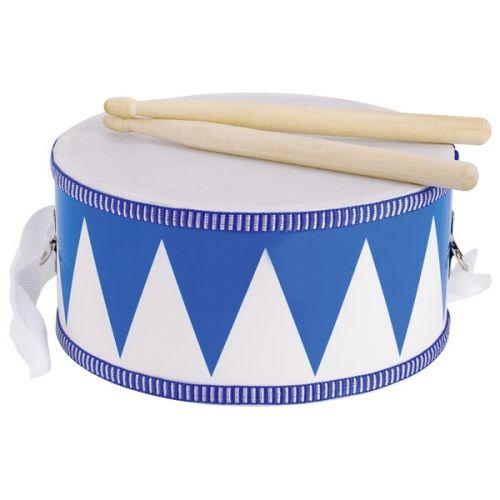 Tambor azul de madera, de Goki
