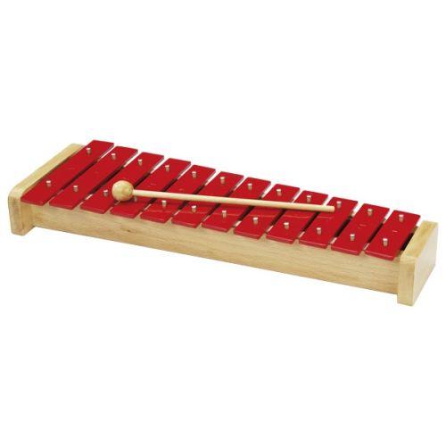 Metalófono rojo de 12 tonos, de Goki