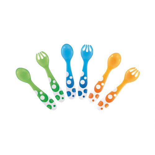 6 Tenedores y Cucharas Multicolor de Munchkin