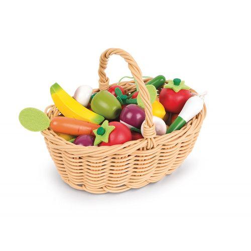 Cesta de 24 Frutas y Verduras de Janod