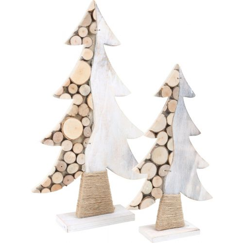Abeto decorativo de Navidad Tronco , 2 unidades