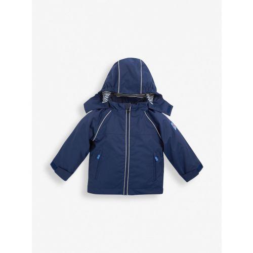 Chaqueta Impermeable con capucha Navy , JojoMamanBebe