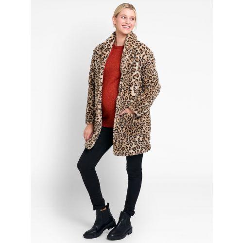 Abrigo premamá Piel Sintética Leopardo