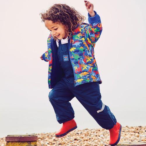 Abrigo Polar Reversible para Niños Estampado Dinosaurios