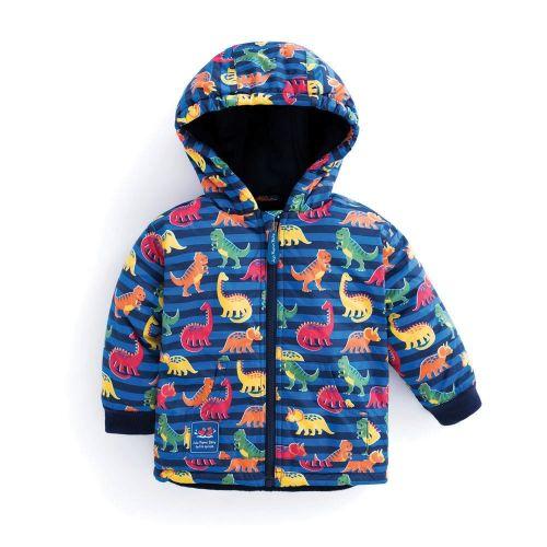 Abrigo polar y reversible para Niños estampado Dinosaurios