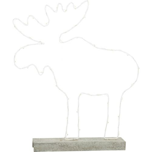 Alce brillante metal , decoración Navideña