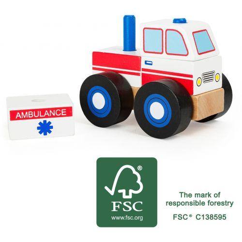 Ambulancia de madera - Juguete a partir de 18 meses