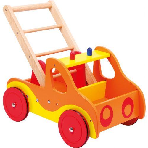 Andador de Madera para Bebé Camión de Bomberos