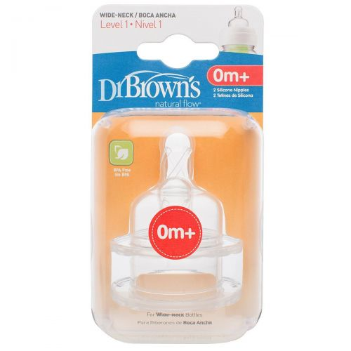 Tetina Dr Brown 0 Meses Nivel 1 - Pack de 2