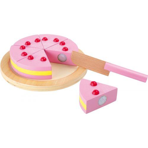 Aprender a cortar Tarta Rosa - Juguete de madera - 8 piezas