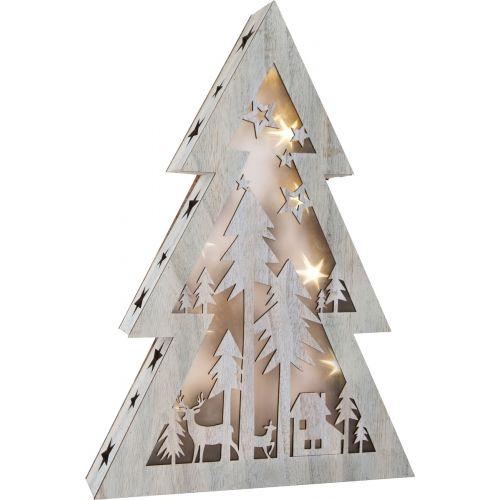 Árbol de Navidad iluminado Shabby Chic, grande , 33 x 6.5 x 48 cm