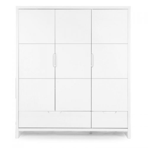 Armario de 3 puertas + 2 cajones - Quadro White - Childhome
