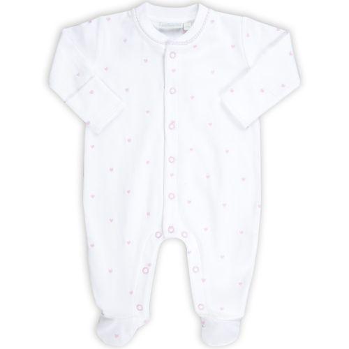 Pijama Bebé Bordado Corazones Rosa