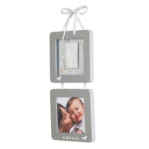 Baby Art Colgador Doble con Foto y Huella