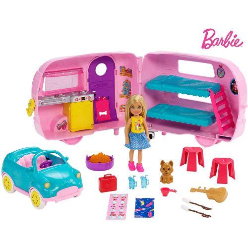 Barbie Muñeca Chelsea y su Caravana
