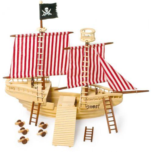 Barco Pirata de madera - Legler - 83 x 49 x 70 cm