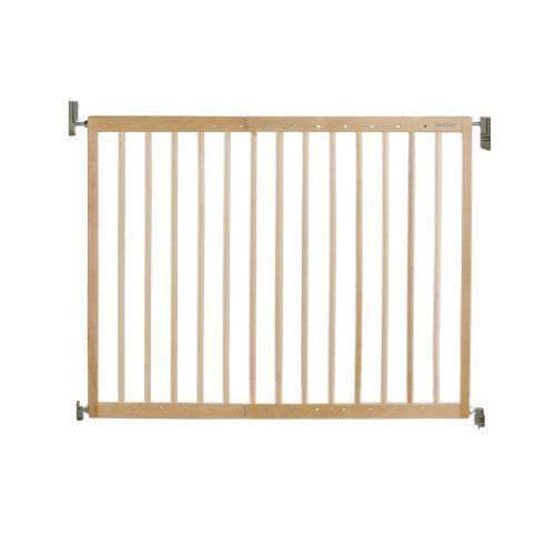 Puerta de seguridad extensible para bebés de madera Lindam