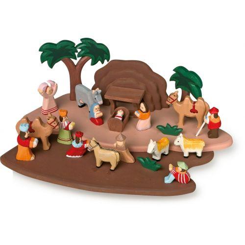 Belén de Navidad, piezas talladas a mano
