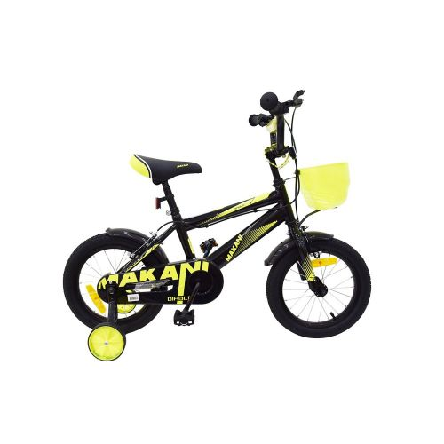 Bicicleta de 14 Pulgadas para Niños Makani Diablo Negro - Amarillo