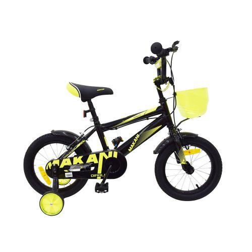 Bicicleta de 16 Pulgadas para Niños Makani Diablo Negro - Amarillo