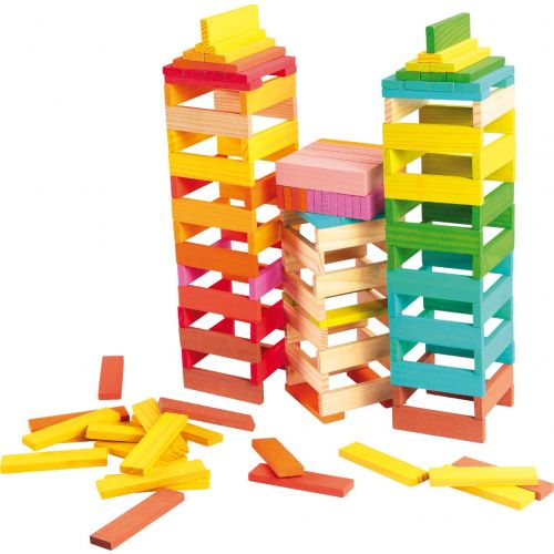Bloques de madera de diseño colorido - 150 piezas
